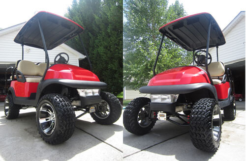 Red Club Car Precedent With Redblack Seats additionally Club Car Precedent Electric 4 Passenger Golf Cart Lifted W Warranty 5zcg 5Eb together with Night Hawk Custom Lifted Golf Cart as well Chevrolet Suburban besides Classic Standard Black. on classic black lifted club car precedent golf cart