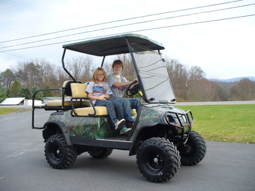 CUSTOMERCARTS | JakesLiftKits.com on silver golf carts, black painted furniture, black painted doors, black painted wheels, black painted cabinets, black painted trucks, navy golf carts, two tone golf carts, brown golf carts, chrome golf carts,