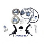 Jake's Club Car DS Non-Lifted Hydraulic Front Disc Brake Kit (Fits 1981-2004.5)