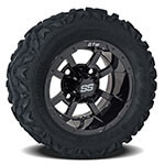 Set of (4) 10 inch Storm Trooper Wheels on Barrage Mud Tires