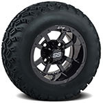 Set of (4) 10 inch Storm Trooper Wheels on Sahara Classic A/ T Tires