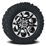 Set of (4) GTW 10 inch Specter Wheels on Barrage Mud Tires