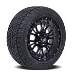 Set of (4) 12″ Diesel Matte Black Wheels on Lo-Profile Tires