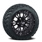 Set of (4) 12″ Diesel Matte Black Wheels on A/ T Tires