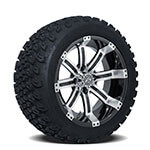 Set of (4) GTW 14 inch Tempest Wheels on A/ T Tires