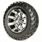 Set of (4) 12″ GTW Tempest Wheels on All-Terrain Tires